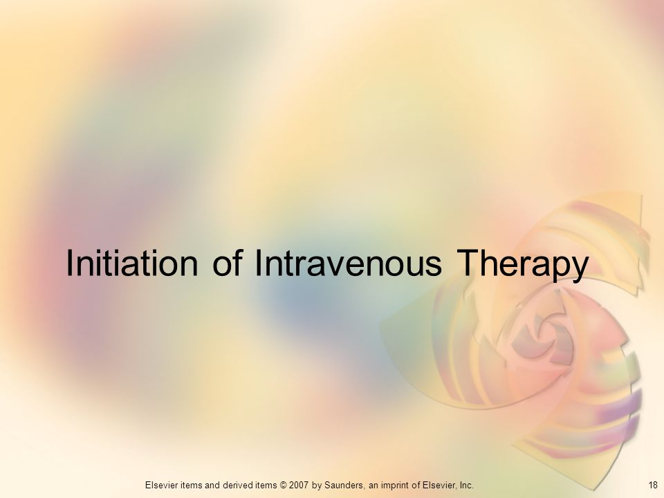 Initiation of Intravenous Therapy
