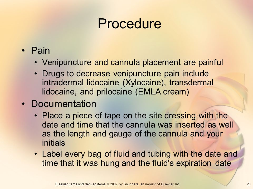 Procedure Pain Documentation