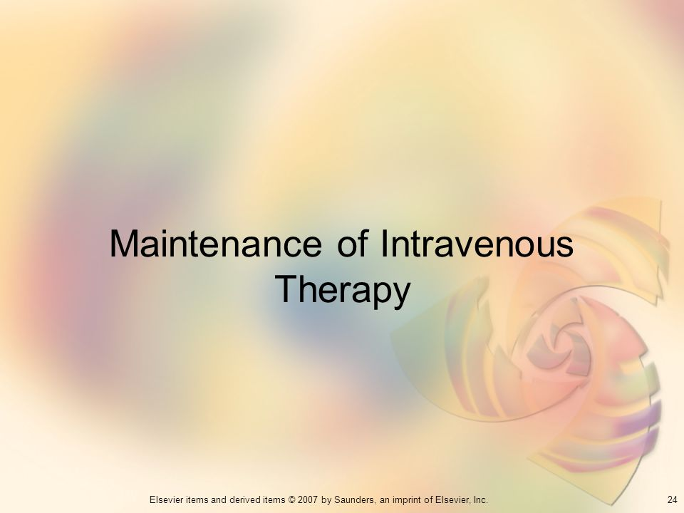 Maintenance of Intravenous Therapy