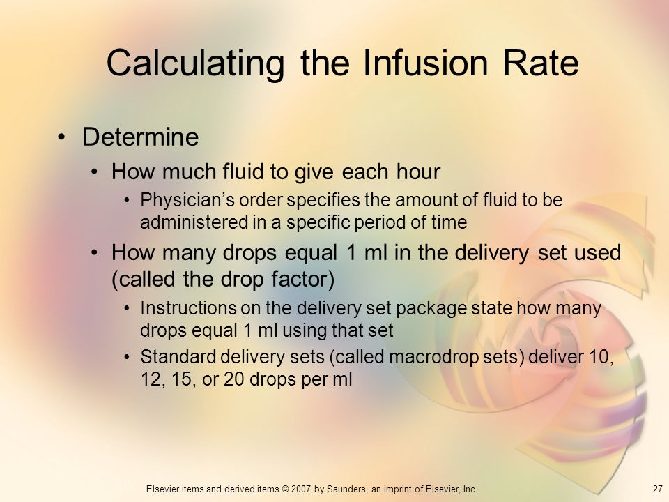 Calculating the Infusion Rate