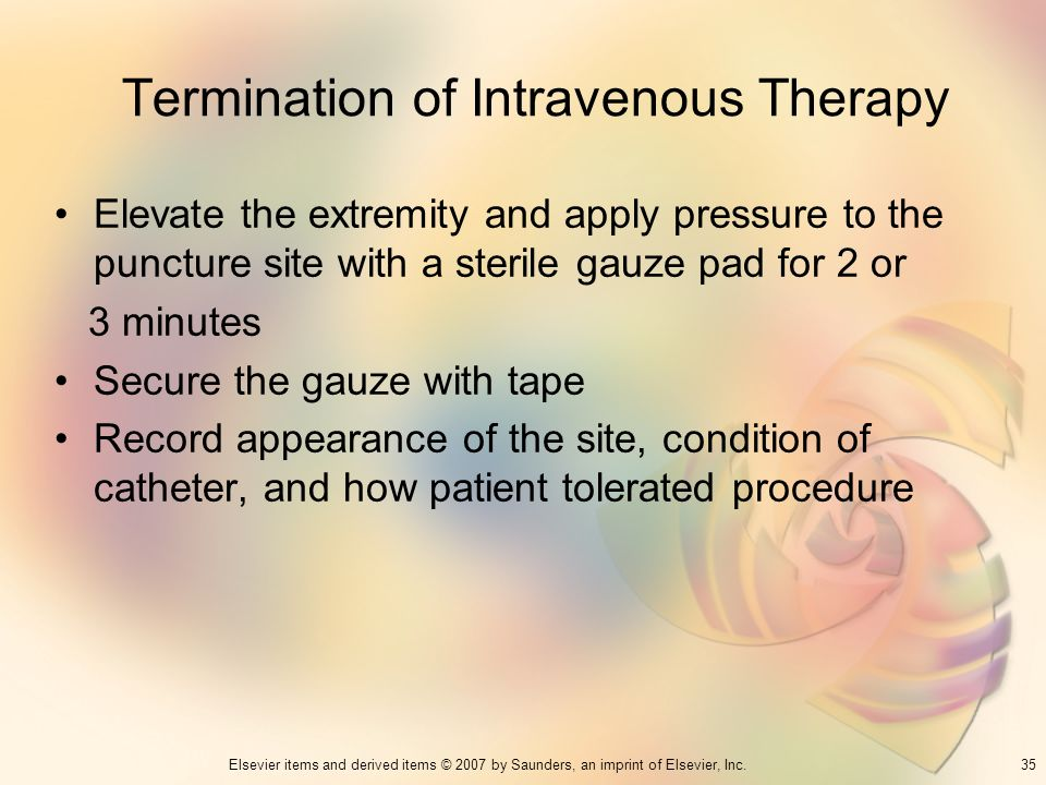 Termination of Intravenous Therapy
