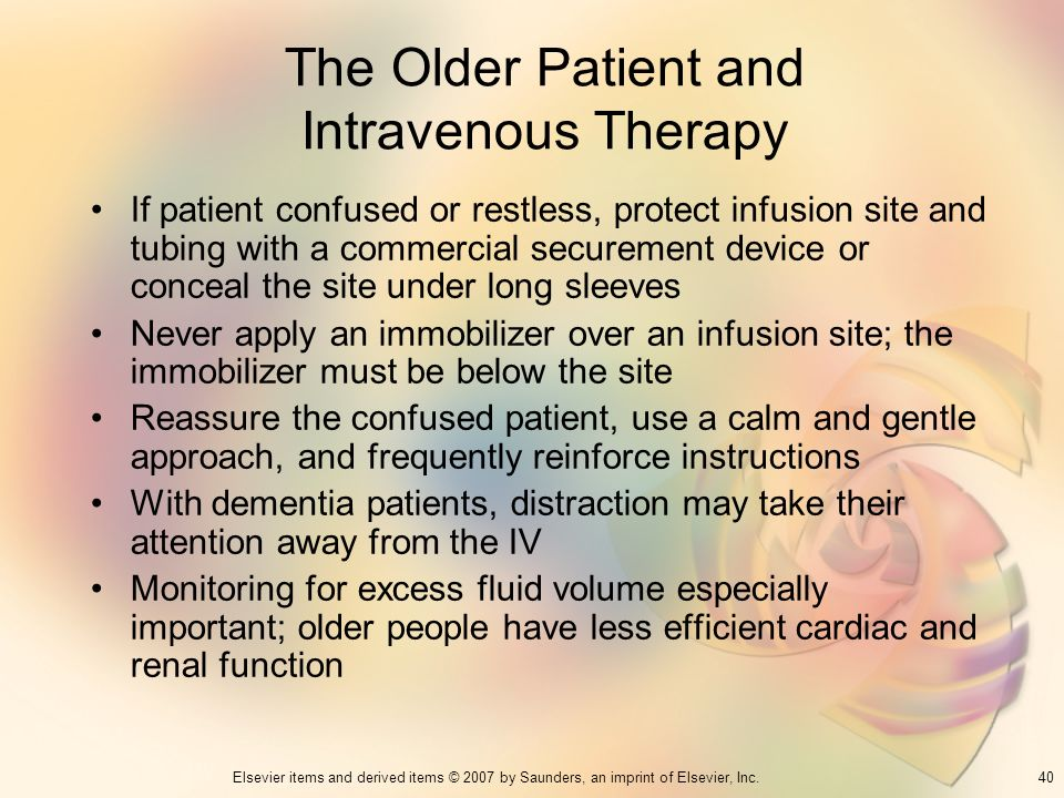 The Older Patient and Intravenous Therapy