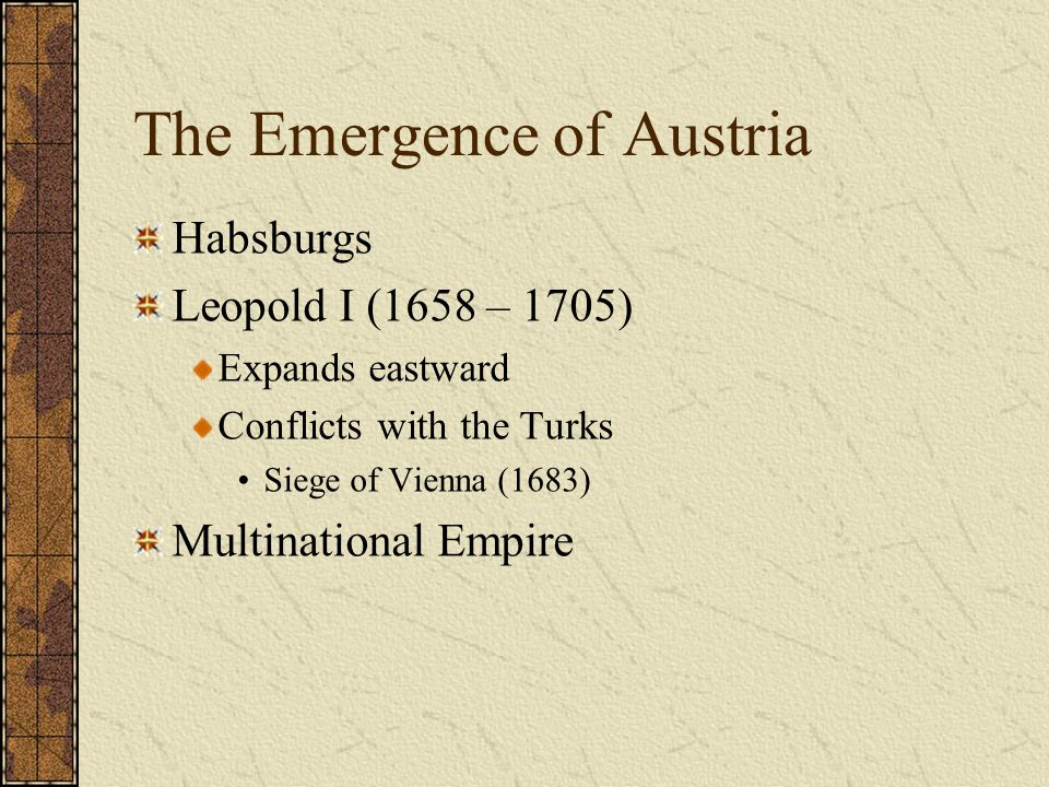 The Emergence of Austria