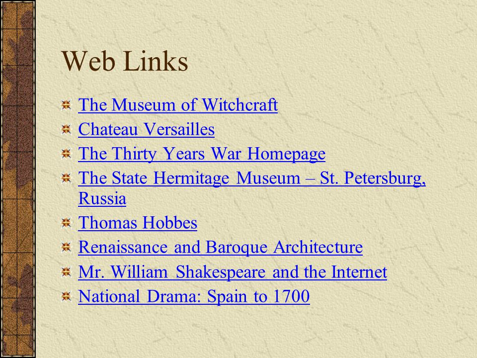 Web Links The Museum of Witchcraft Chateau Versailles