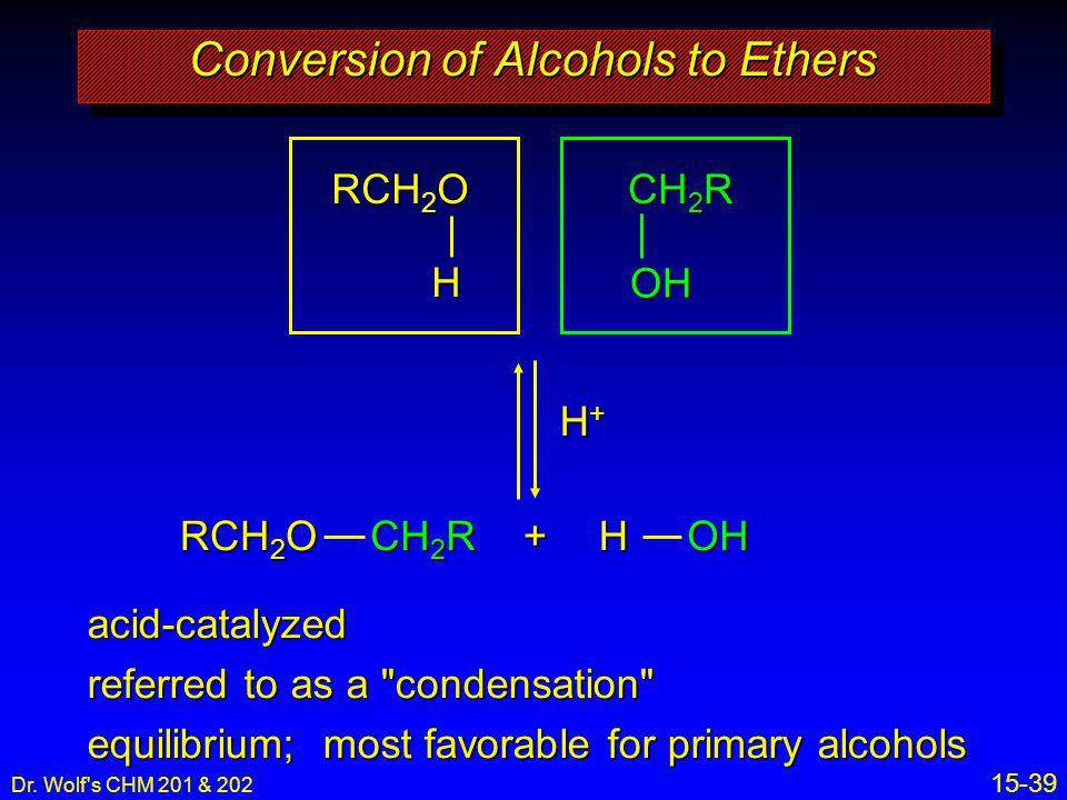 Conversion of Alcohols to Ethers