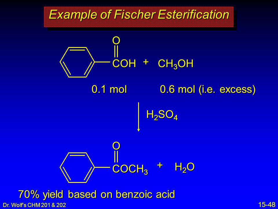 Example of Fischer Esterification