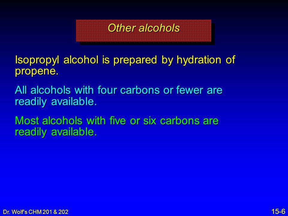 Isopropyl alcohol is prepared by hydration of propene.
