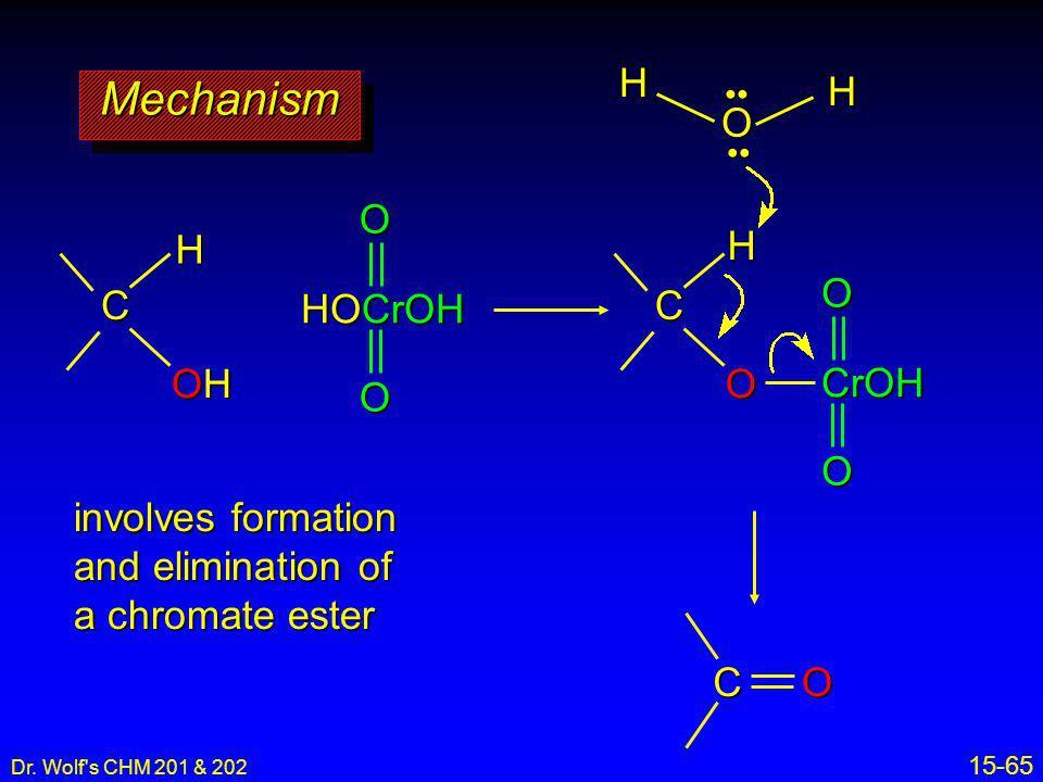 Mechanism H O H O H H O C HOCrOH C OH O CrOH