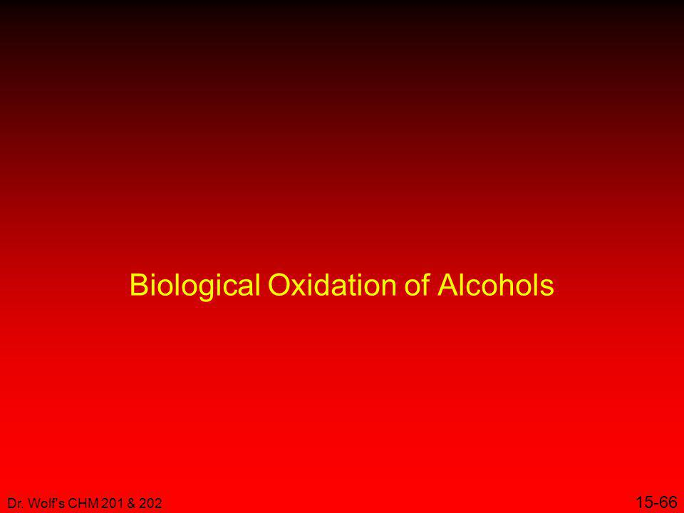 Biological Oxidation of Alcohols