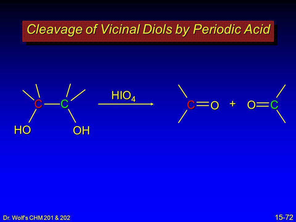 Cleavage of Vicinal Diols by Periodic Acid