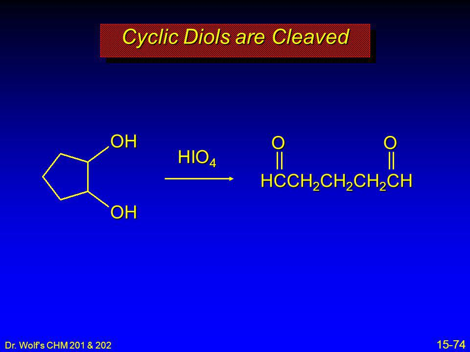 Cyclic Diols are Cleaved