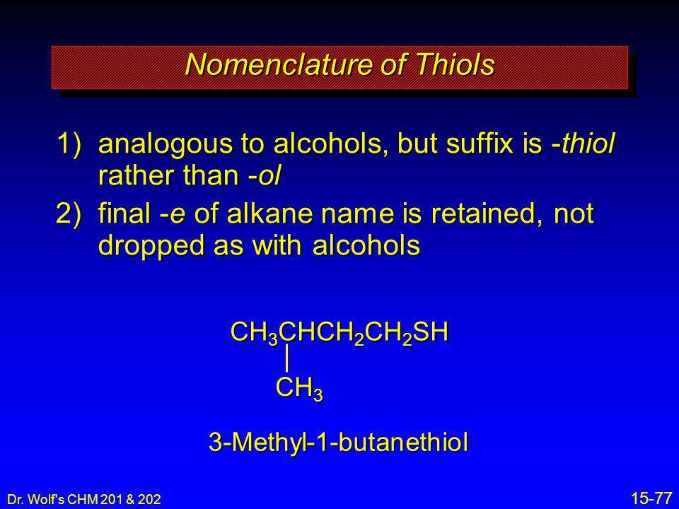 Nomenclature of Thiols