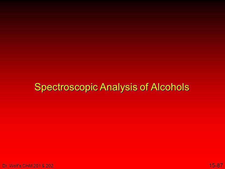 Spectroscopic Analysis of Alcohols