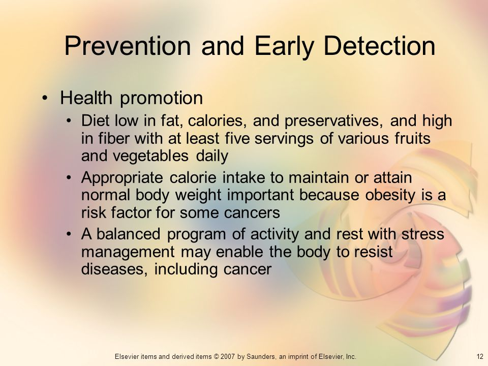Prevention and Early Detection