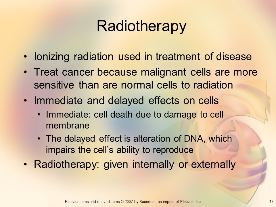 Radiotherapy Ionizing radiation used in treatment of disease