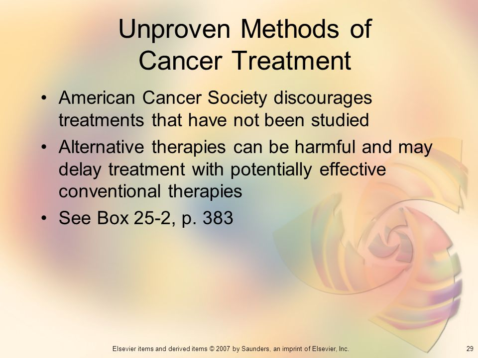 Unproven Methods of Cancer Treatment