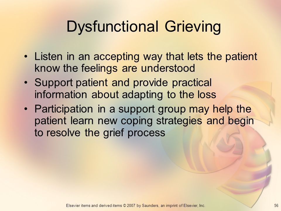 Dysfunctional Grieving