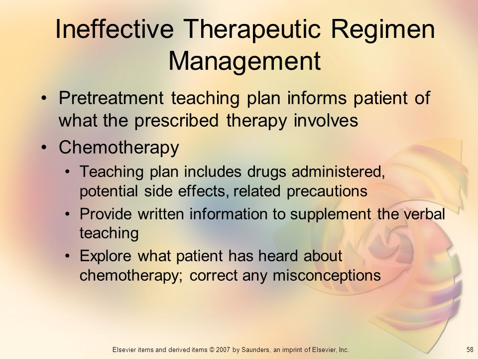 Ineffective Therapeutic Regimen Management