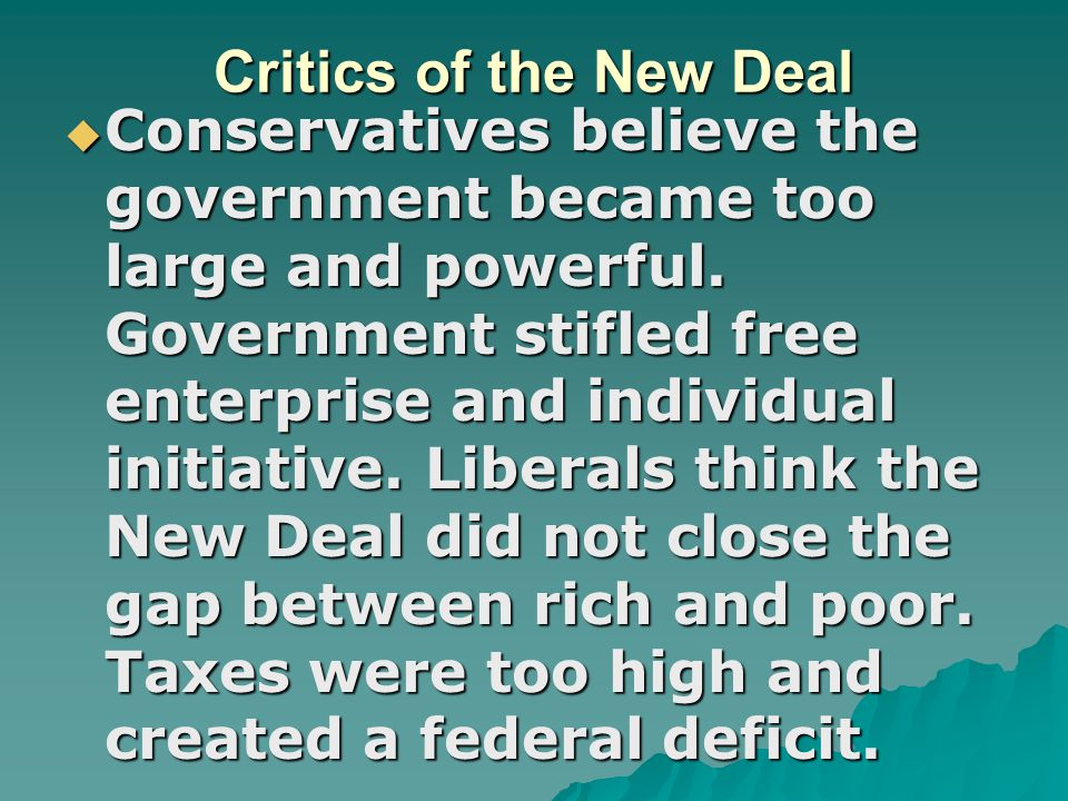 Critics of the New Deal