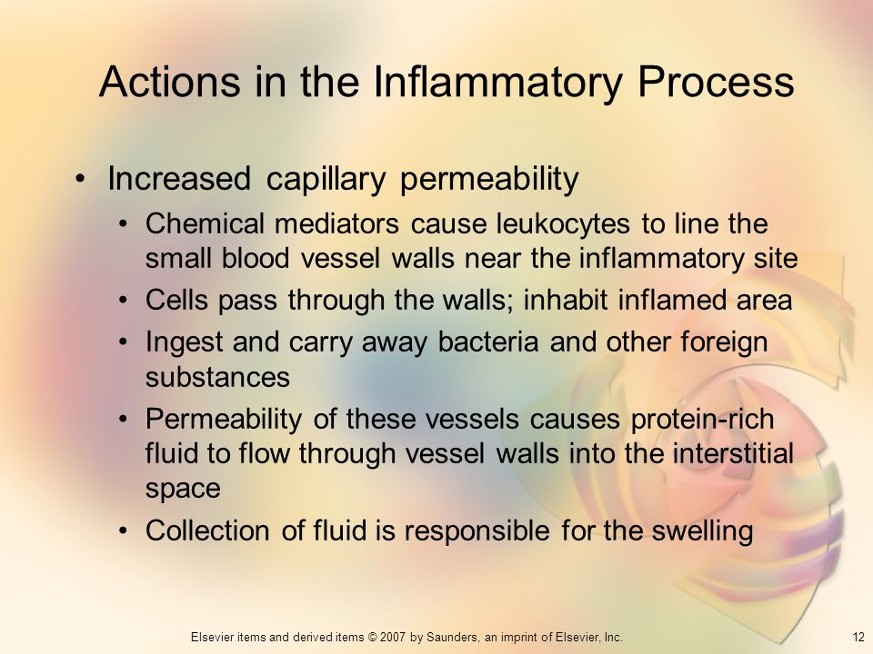 Actions in the Inflammatory Process