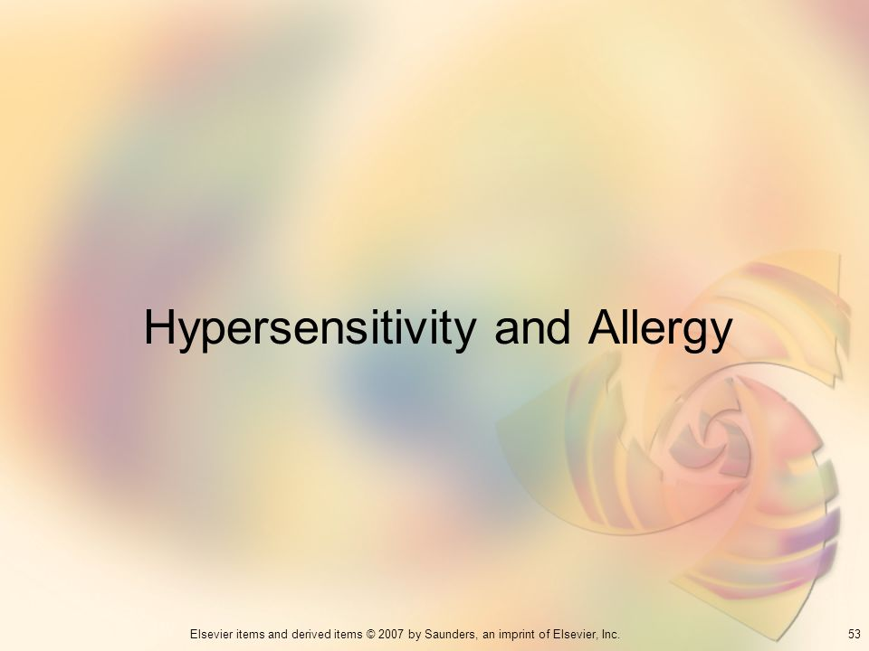 Hypersensitivity and Allergy