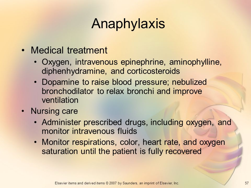Anaphylaxis Medical treatment