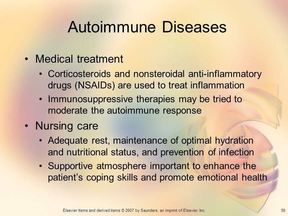 Autoimmune Diseases Medical treatment Nursing care