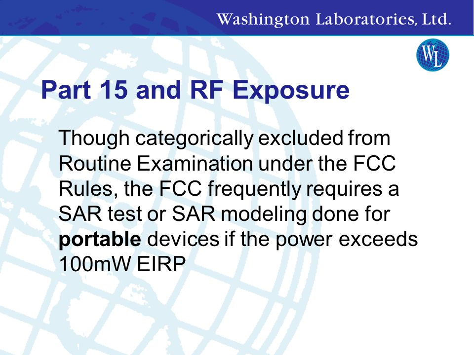 Part 15 and RF Exposure