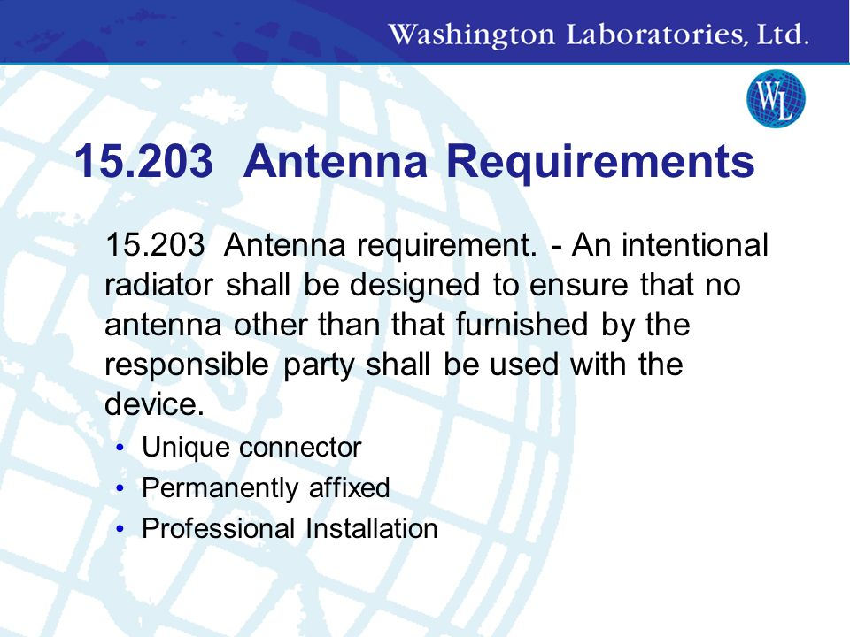 15.203 Antenna Requirements