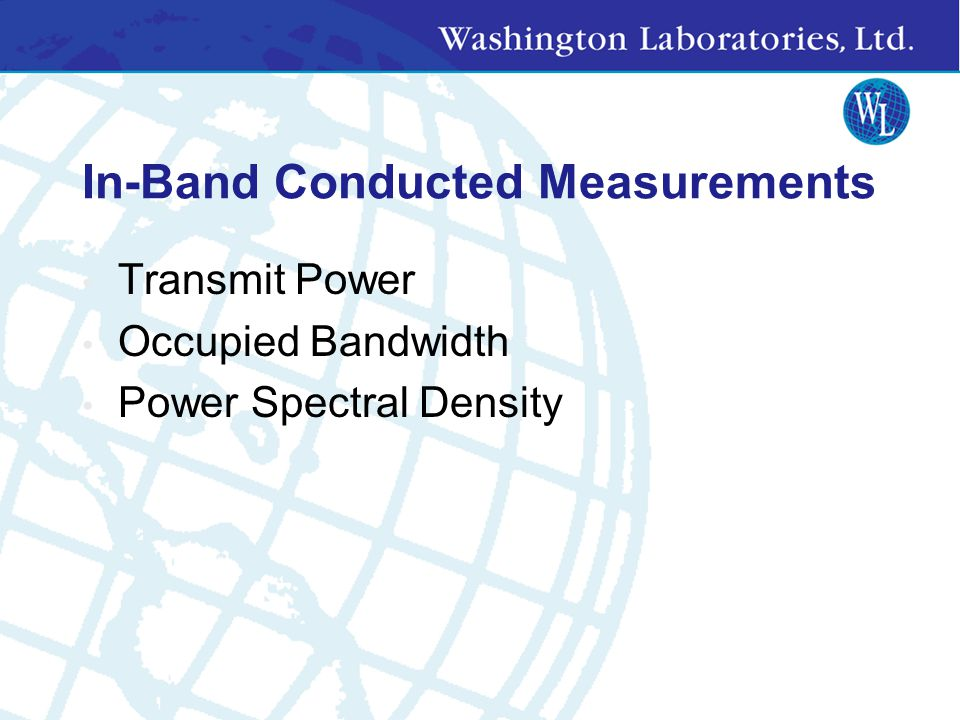 In-Band Conducted Measurements