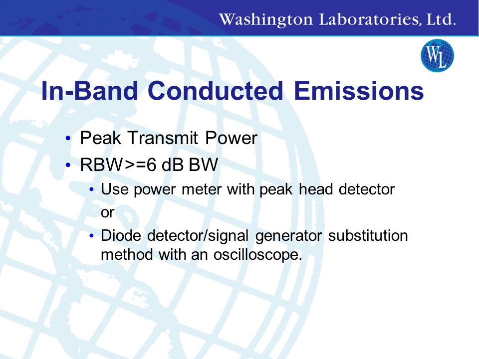 In-Band Conducted Emissions