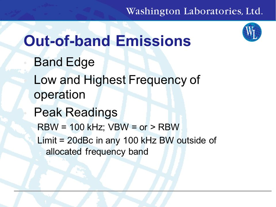 Out-of-band Emissions