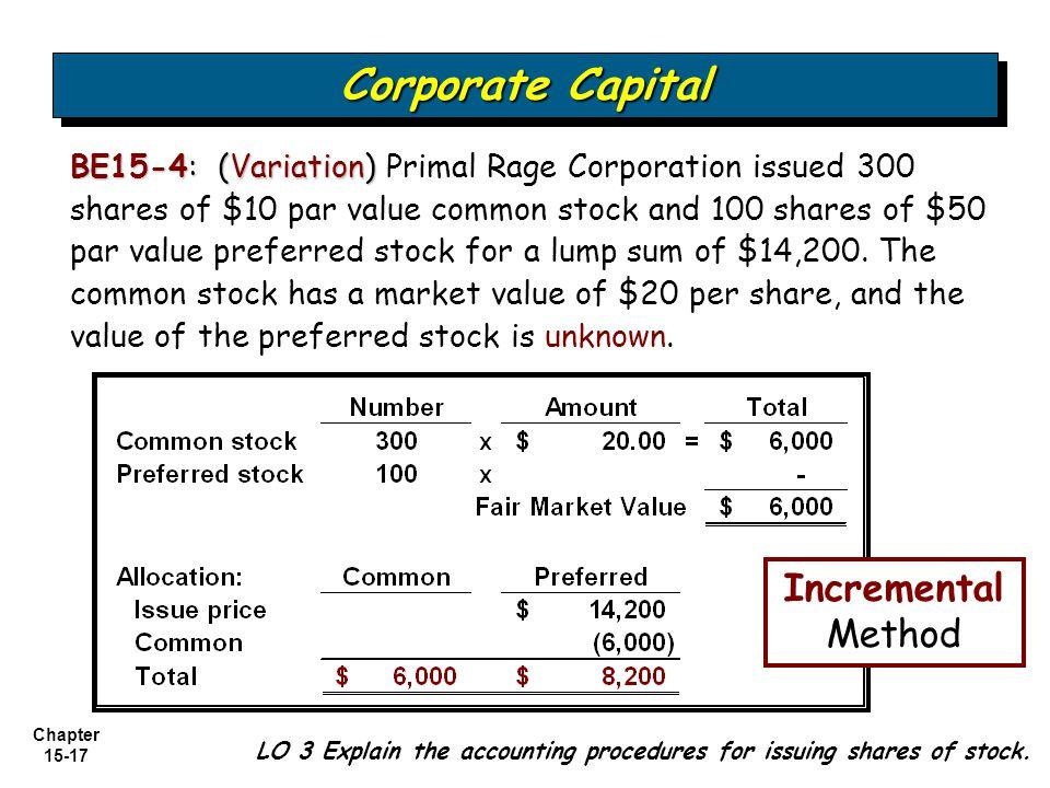Corporate Capital Incremental Method
