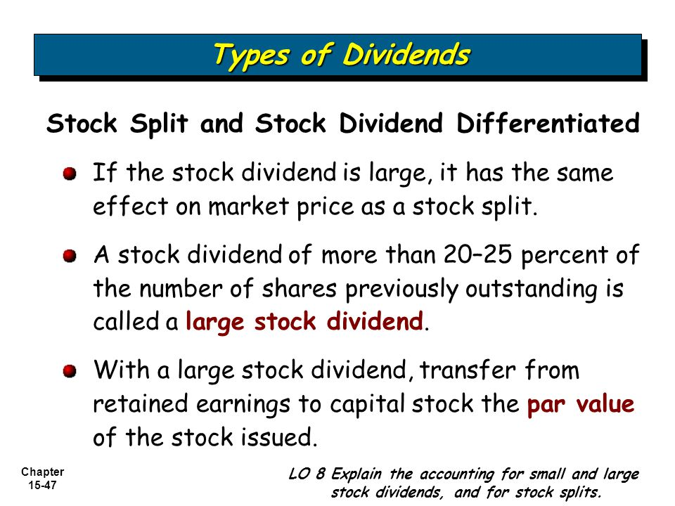 Types of Dividends Stock Split and Stock Dividend Differentiated