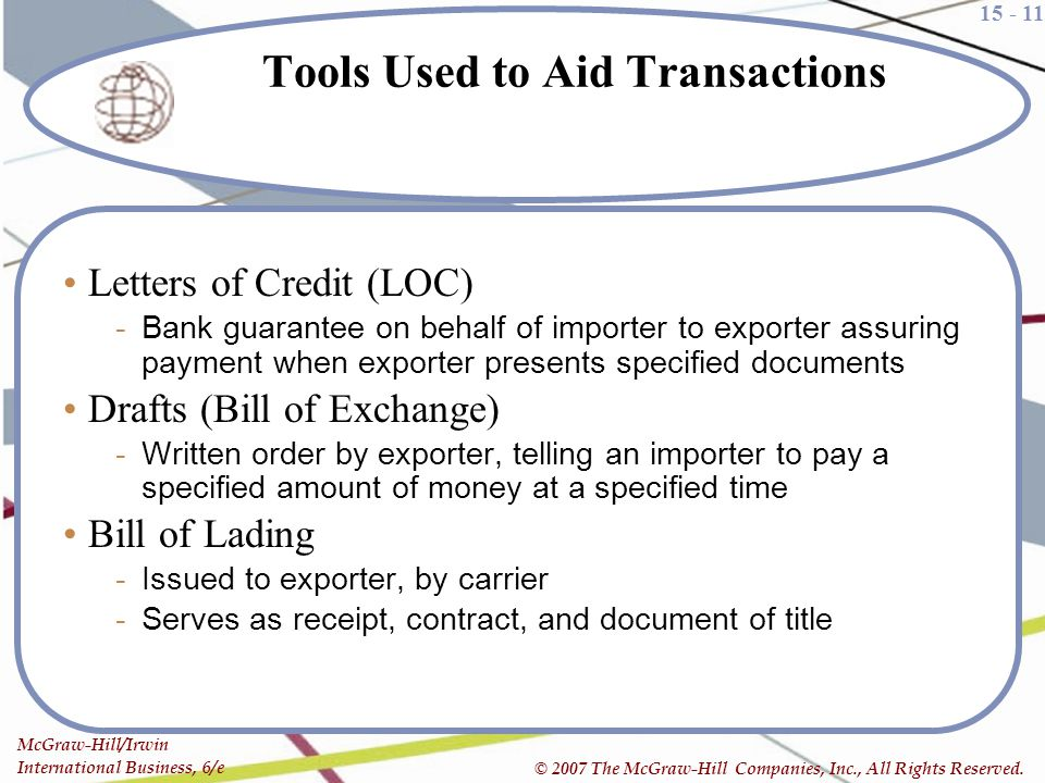 Tools Used to Aid Transactions