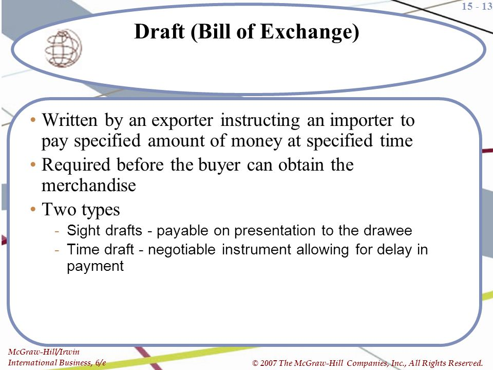 Draft (Bill of Exchange)