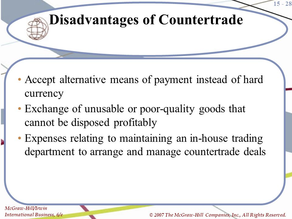Disadvantages of Countertrade