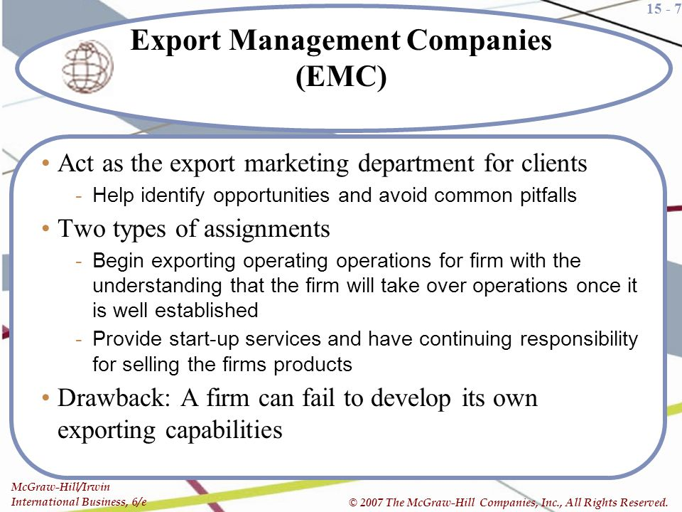 Export Management Companies (EMC)
