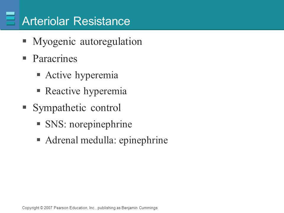Arteriolar Resistance