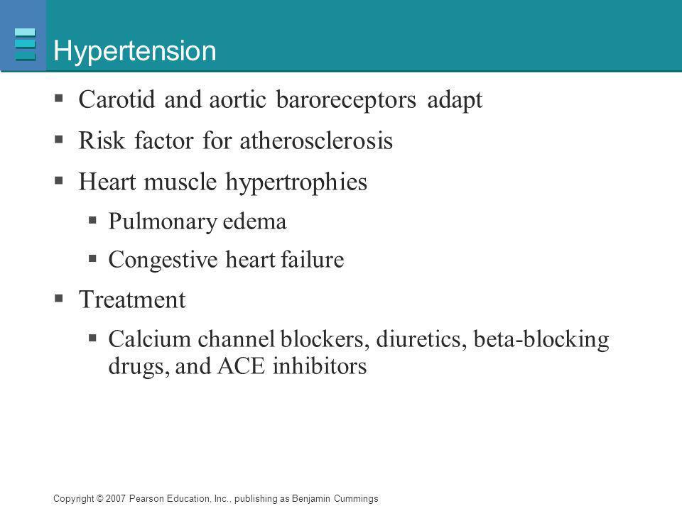 Hypertension Carotid and aortic baroreceptors adapt