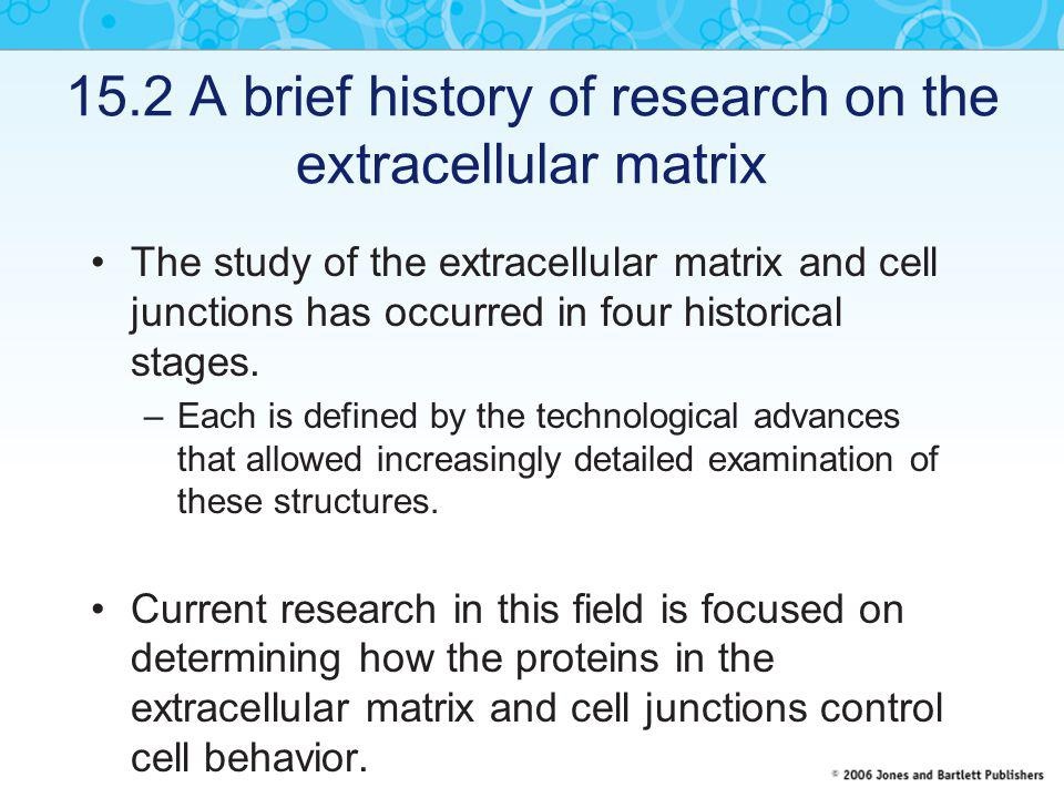 15.2 A brief history of research on the extracellular matrix