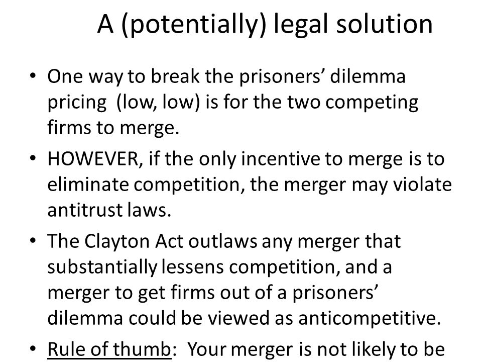 A (potentially) legal solution