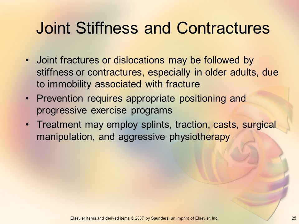 Joint Stiffness and Contractures