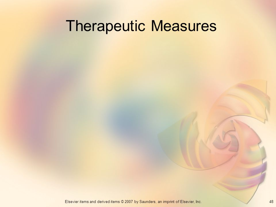 Therapeutic Measures 48
