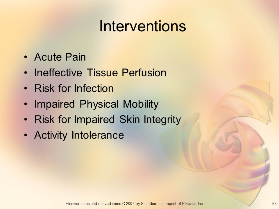 Interventions Acute Pain Ineffective Tissue Perfusion
