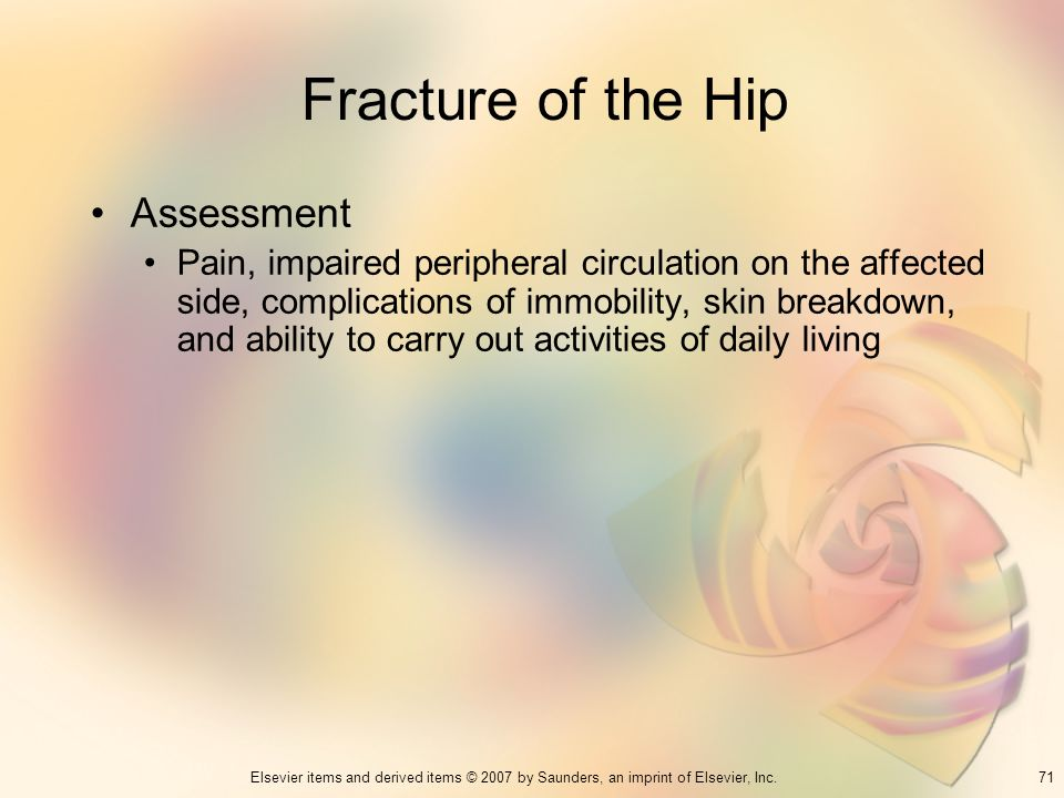 Fracture of the Hip Assessment