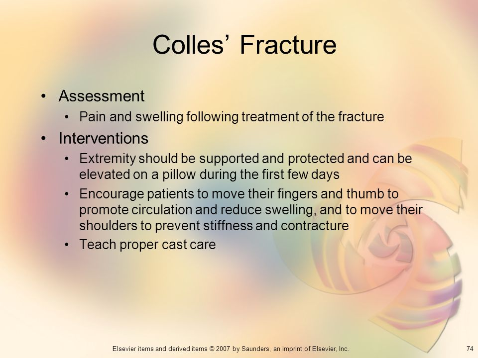 Colles' Fracture Assessment Interventions