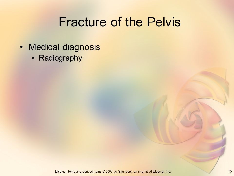 Fracture of the Pelvis Medical diagnosis Radiography 75