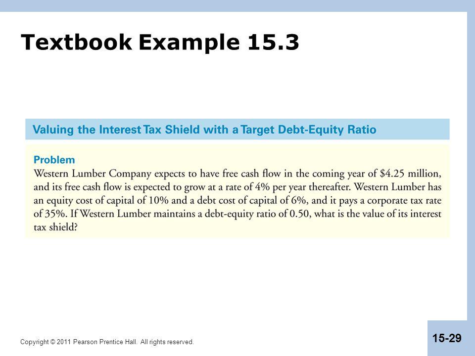 Textbook Example 15.3