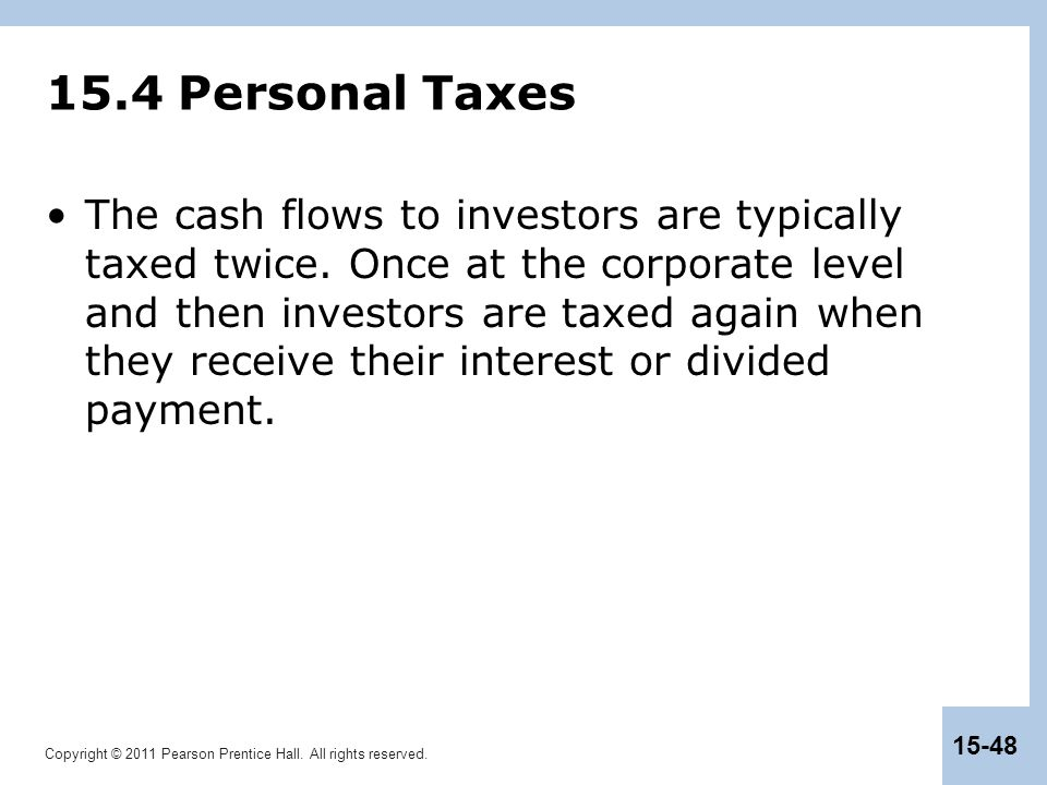 15.4 Personal Taxes